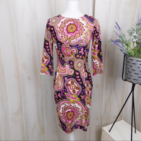 Jude Connelly Pink Patterned Long Sleeve Dress